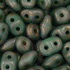 Image Seed Beads Czech SuperDuo 2 x 5mm turquoise copper picasso