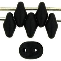 Image Seed Beads Czech SuperDuo 2 x 5mm jet matte opaque matte