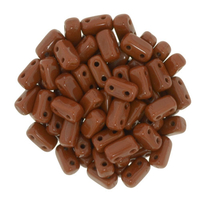 Seed Beads CzechMate Brick 3 x 6mm Umber opaque