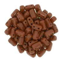 Image Seed Beads CzechMate Brick 3 x 6mm Umber opaque