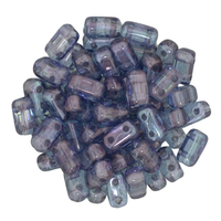 Seed Beads CzechMate Brick 3 x 6mm amethyst transparent luster