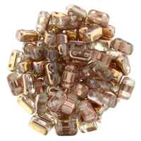 Seed Beads CzechMate Brick 3 x 6mm apollo gold luster