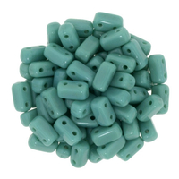 Image Seed Beads CzechMate Brick 3 x 6mm Persian Turquoise opaque