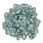 Seed Beads CzechMate Brick 3 x 6mm blue green luster