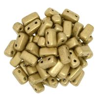 Image Seed Beads CzechMate Brick 3 x 6mm Flax matte metallic