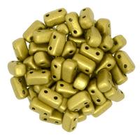 Image Seed Beads CzechMate Brick 3 x 6mm Aztec Gold matte metallic