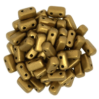 Seed Beads CzechMate Brick 3 x 6mm Goldenrod matte metallic