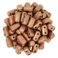 Seed Beads CzechMate Brick 3 x 6mm copper matte metallic