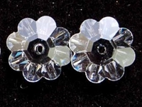 Image Swarovski Crystal Beads 10mm daisy (3700) crystal (clear) transparent