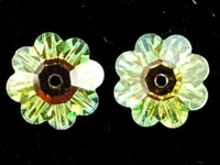 Swarovski Crystal Beads 10mm daisy (3700) crystal ab (clear) transparent iridescent