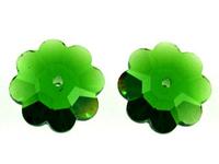 Swarovski Crystal Beads 10mm daisy (3700) fern green transparent
