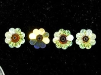 Swarovski Crystal Beads 6mm daisy (3700) crystal ab (clear) transparent iridescent