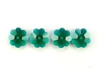Swarovski Crystal Beads 6mm daisy (3700) emerald (dark green) transparent
