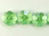 Swarovski Crystal Beads 8mm daisy (3700) peridot (light green) transparent