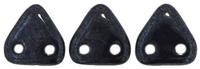 Image Seed Beads CzechMates Triangle 6mm hematite metallic