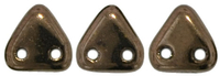Image Seed Beads CzechMates Triangle 6mm dark bronze opaque iridescent
