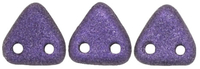 Seed Beads CzechMates Triangle 6mm purple metallic matte
