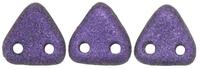 Image Seed Beads CzechMates Triangle 6mm purple metallic matte