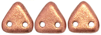 Image Seed Beads CzechMates Triangle 6mm copper metallic matte