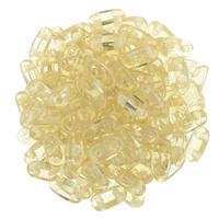 CzechMate Bar Seed Beads - Champagne - Transparent Finish | 2 x 6mm 2 Hole CzechMate Bars