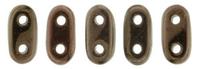Image Seed Beads CzechMate Bar 2 x 6mm dark bronze metallic iridescent