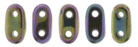 Image Seed Beads CzechMate Bar 2 x 6mm purple iris metallic iridescent