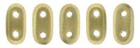 Image Seed Beads CzechMate Bar 2 x 6mm flax matte metallic