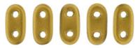 Image Seed Beads CzechMate Bar 2 x 6mm antique gold matte metallic