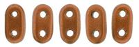 Image Seed Beads CzechMate Bar 2 x 6mm antique copper matte metallic