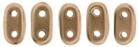 Image Seed Beads CzechMate Bar 2 x 6mm bronze copper matte metallic