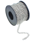 4.2mm white (silver) plate curb Chain