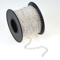 Image 2.8mm silver plate curb Chain