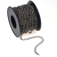 2.8 x 4mm gunmetal plate curb Chain