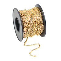 2.1mm gold plate diamond cut cable Chain