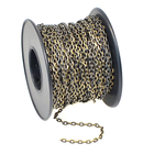 2.1mm antique brass plate diamond cut cable Chain