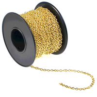2.1mm gold plate cable Chain