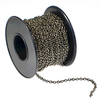 2.1mm gunmetal plate cable Chain