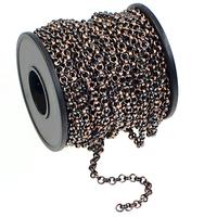 Image 3.9mm antique copper plate rollo (belcher) Chain
