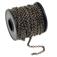 3.9mm gunmetal plate rollo (belcher) Chain