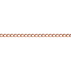 raw copper 3.3mm wide curb Chain
