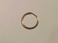14k goldfill 6mm splitring jumpring gold