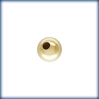 Image Metal Beads 4mm round goldfill