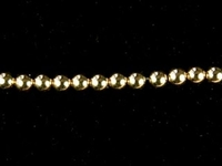 Metal Beads 2mm seamed bead goldfill
