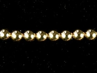 Metal Beads 3mm seamed bead goldfill