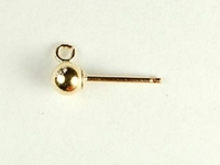 14k goldfill 4mm ball with ring earpost gold
