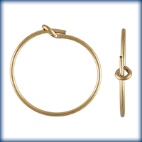 goldfill 20mm add a bead earhoop gold