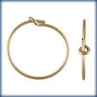 goldfill 20mm add a bead earhoop gold