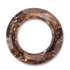 Swarovski Crystal Beads 14mm cosmic ring (4139) crystal copper CAL silver 1/2 coat