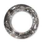 Swarovski Crystal Beads 20mm cosmic ring (4139) comet argent light (silver) silver 1/2 coat