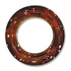 Swarovski Crystal Beads 20mm cosmic ring (4139) crystal copper transparent iridescent